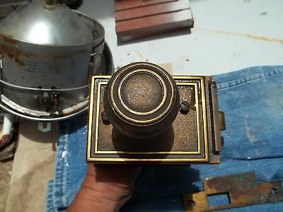 Vintage Brass Maybe Commercial Sargent Lock And Door Knob Assembly