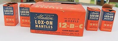 Vintage ALADDIN Lox-On Lamp Mantle EMPTY BOXES ONLY & DISPLAY For Models 12-B-C