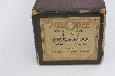Melodee Player Piano Roll Kiss-A-Miss #4127 Waltz Erlebach & Milne