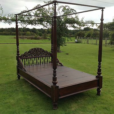 Antique Victorian Colonial 3/4 four poster bed