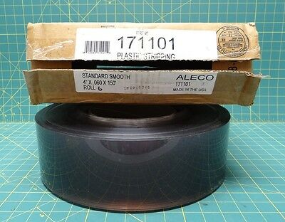 """Aleco Clear Plastic Stripping 171101 4"""" x 0.060"""" x 150'  Warehouse Curtain"""