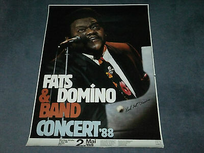 Fats Domino Signed Poster