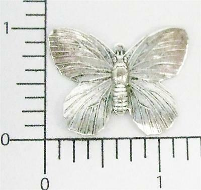 35314      2 Pc  Matte Silver Oxidized Victorian Butterfly Charm Jewelry Finding