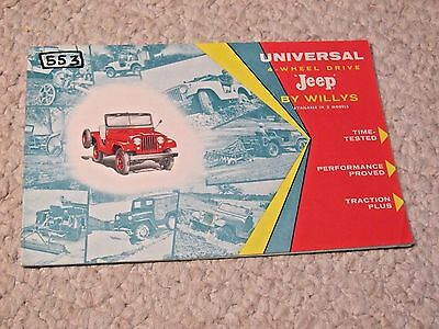 1957 Willys Jeep Universal (Usa) Sales Brochure