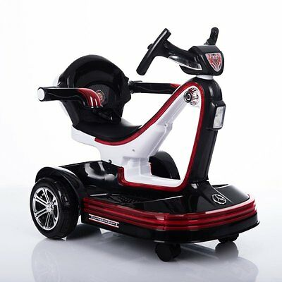 Mini Electric Toy Car for 2-5 Years Old Children – Self & Parent Control - Black