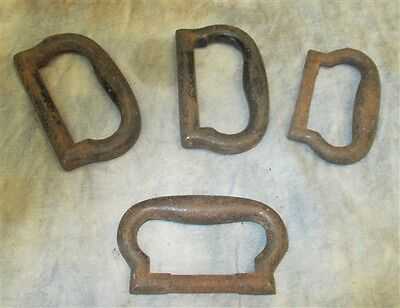4 Metal Handle Drawer Door Pull Architectural Salvage Hardware Reclaimed Vintage