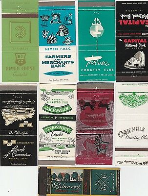 Lot Of 18 Different Texas Matchbook Covers.  #4