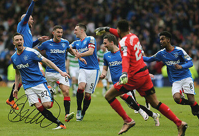 Barrie McKay, Rangers FC, signed 12x8 inch photo. COA.