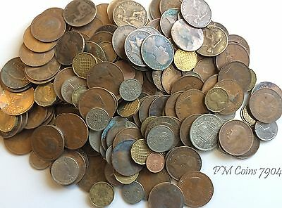 Large collection of old coins weighing around 1.5 Kg, mostly pre-decimal [7904]