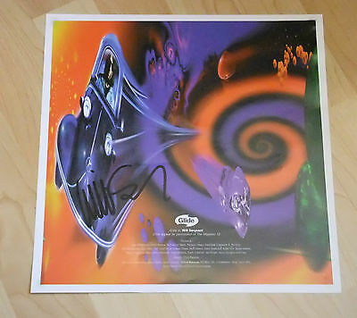 Echo And The Bunnymen Will Sergeant Signed  Poster