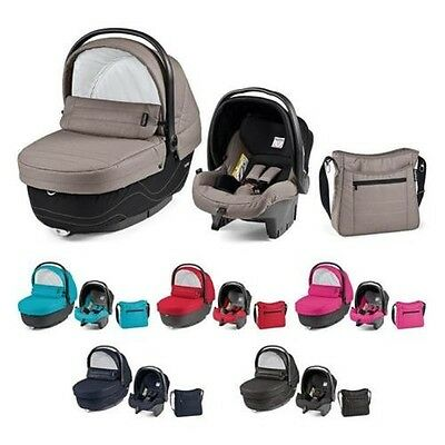 Peg Perego SET XL Tub Carry cot Diaper bag Choice of colours