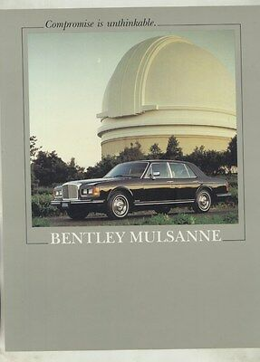 1983 1984 ? Bentley Mulsanne Brochure ww3728