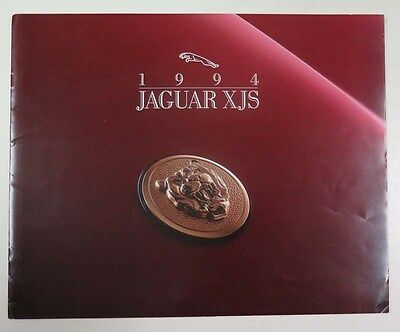 1994 Jaguar XJS Coupe & Convertible Prestige US Brochure ww3744