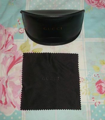 Genuine Large Gucci Sunglasses Case & Dust Cloth
