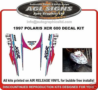 1997 POLARIS INDY XCR 600  HOOD DECALS , shroud  graphic reproductions
