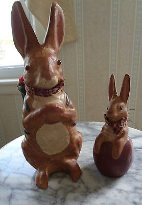 Pair of Primitive Style Rabbits - Very Sweet