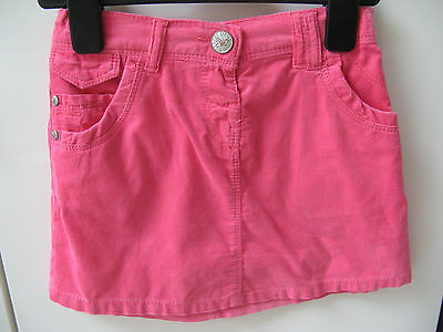 Next Girls Pink Thin Corduroy Skirt 5-6 Years Vgc