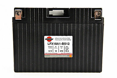 Shorai LFX Lithium Xtreme-Rate Battery  LFX18A1-BS12