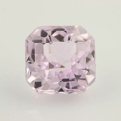9.61ct Loose Kunzite Gemstone - Light Pink Square Princess Genuine