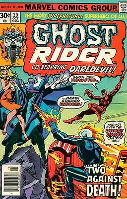 GHOST RIDER #20 F, Daredevil appearance, John Byrne art, Marvel Comics 1976