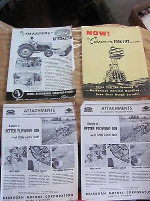 Ford Dearborn Sherman Forklift Tractor Brochures Advertisement Lot