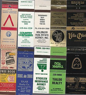 Lot Of 20 Different Illinois Matchbook Covers.  #5
