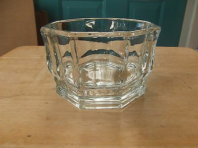 Vintage Eight-Sided Clear Glass Candy Bowl