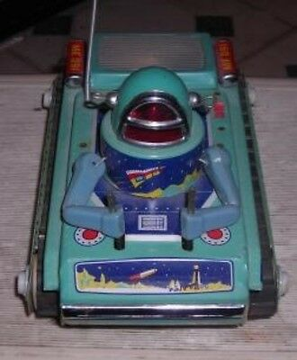 Nmib Vintage Battery Operated Space Tank Me091