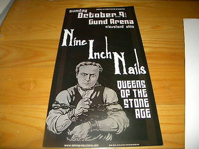 2005 Jeff Miller Nine Inch Nails Gund Arena Cleveland Ohio Used Concert Poster