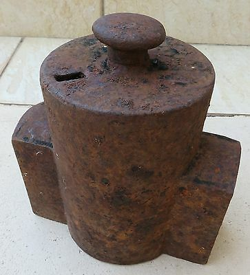 Vintage Cast Iron 3/4 Water Meter Cover