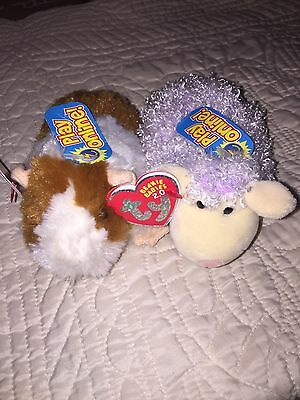 Ty Beanie Baby FLUFFBALL the Guinea Pig MWMT'S ~ Play Online Shearsly Sheep Lot