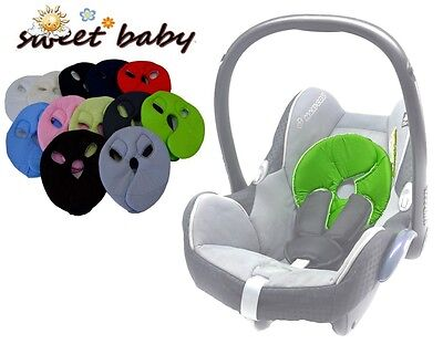 SOFTY HEAD ** Grau ** Weiches Kopfpolster für Maxi Cosi PEBBLE / PEBBLE PLUS