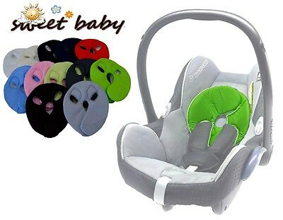 SOFTY HEAD ** Limette ** Weiches Kopfpolster für Maxi Cosi PEBBLE / PEBBLE PLUS