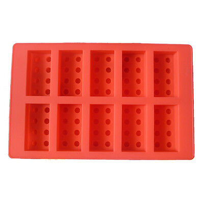 Lego Brick Style Square Sharped Silicone Ice Tray Ice Mold Building Blocks DIY