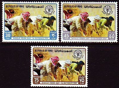 Irak Iraq 1981 ** Mi.1113/15 Welternährungstag World Food Day FAO