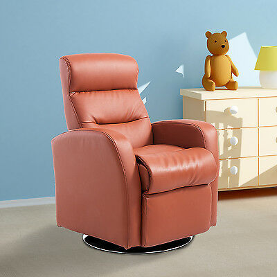Faux Leather Kids Sofa Recliner Armchair Padded Seat Children Lounge Brown