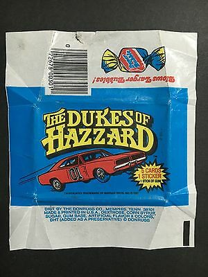 The Dukes Of Hazzard Trading Card Wrapper By Donruss
