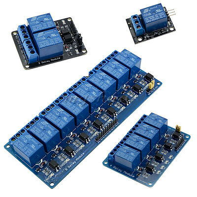 5V 2/4/8 Channel Relay Board Module For Arduino Raspberry Pi ARM AVR DSP PIC