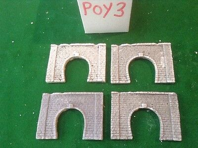 4x single tunnel  - Z scale gauge- painted and weathered- Twin Pack Better Value