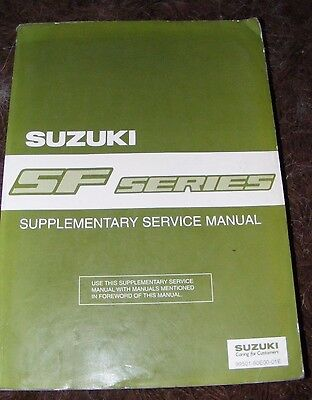 Suzuki Sf Series Supplementary Service Manual  (This  Manual Is Over 1 Kg)