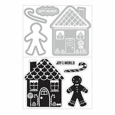 Art C Stamp & Cut - Clear Stamps with Matching Die Cuts - Gingerbread House Man