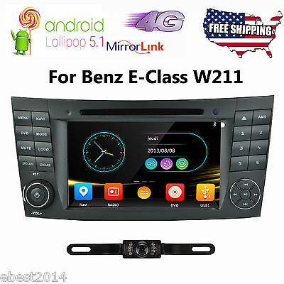 "7"" Android 5.1 Car DVD Player GPS Radio Stereo for Mercedes Benz E W211 CLS W219"