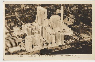 USA, Aerial View of New York Hospital RP Postcard, B375