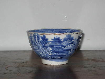 Old English  Blue & White Tea Bowl Early 19C