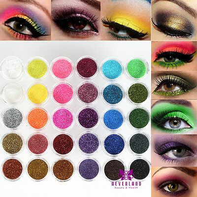 30 Colors/Set Mixed Eye Shadow Makeup Powder Pigment Mineral Eyeshadow Glitter