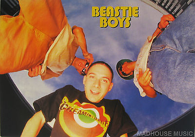 BEASTIE BOYS Postcard UK Official 90'S 'WIDE ANGLED' Pic PYRAMID Licensed MINT