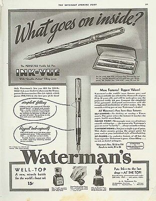 What goes on inside Waterman's Fountain Pen ad 1936