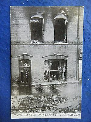 Battle Of Stepney: After The Siege - Scarce Real Photo Postcard!
