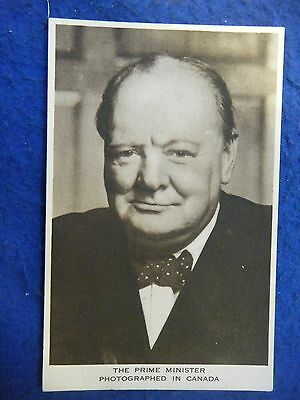 Winston Churchill: Pm Photo In Canada - Scarce Real Photo Postcard!