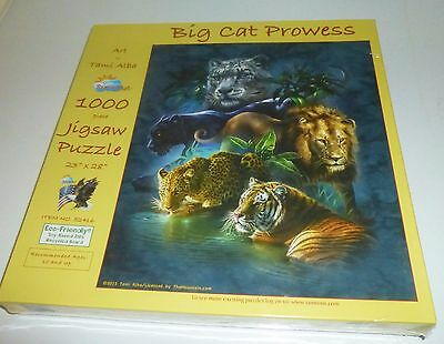 1000 Piece Jigsaw Puzzle Big Cat Prowess Sealed NEW Sunsout